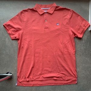 Southern Tide Coral Polo